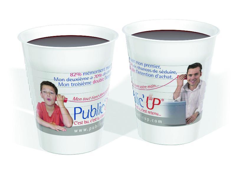 Public'UP, le premier gobelet publicitaire.