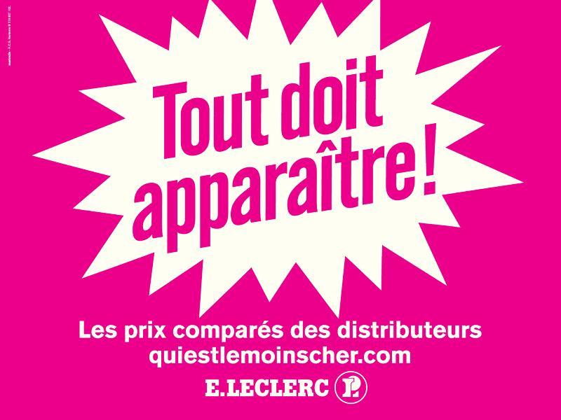 Un site comparateur de prix signé E.Leclerc