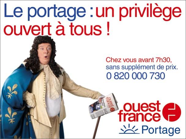 Communication 'royale' pour Ouest France