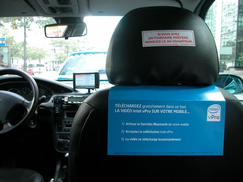 Des taxis Bluetooth dans Paris