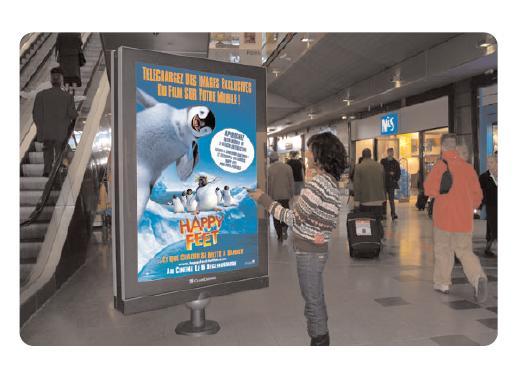 Des panneaux interactifs pour Happy Feet