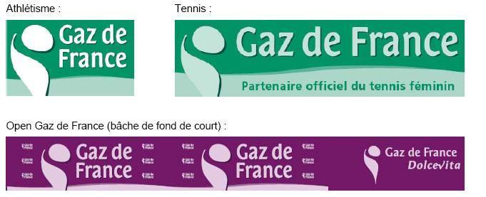 Gaz de France optimise son identité visuelle pour le sport