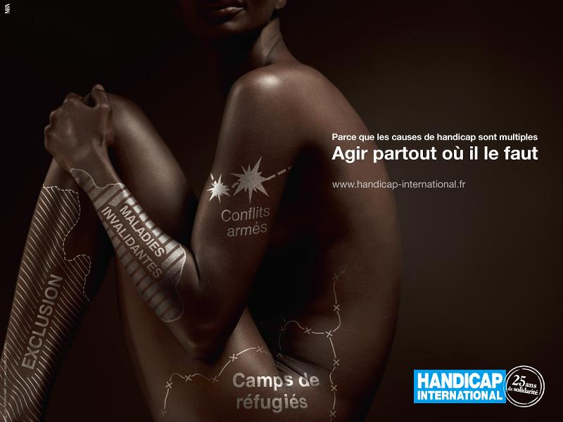 Handicap International part en campagne