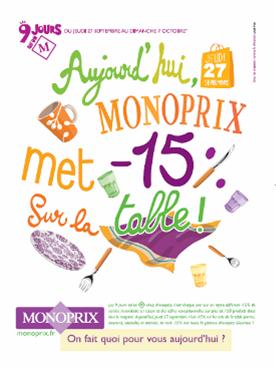 Une campagne multimédia pour Monoprix