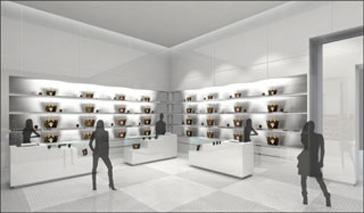 Louis Vuitton installe une boutique dans une exposition