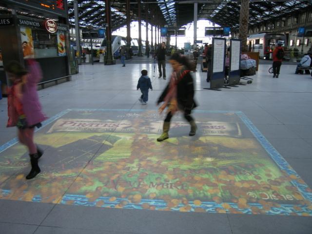 Un tapis magique gare de Lyon pour Pirates des Caraïbes 3