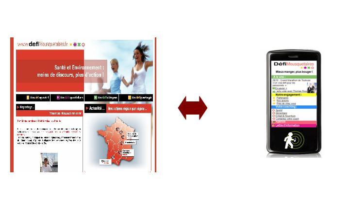 Les Mousquetaires lancent un site nutritionnel sur mobile