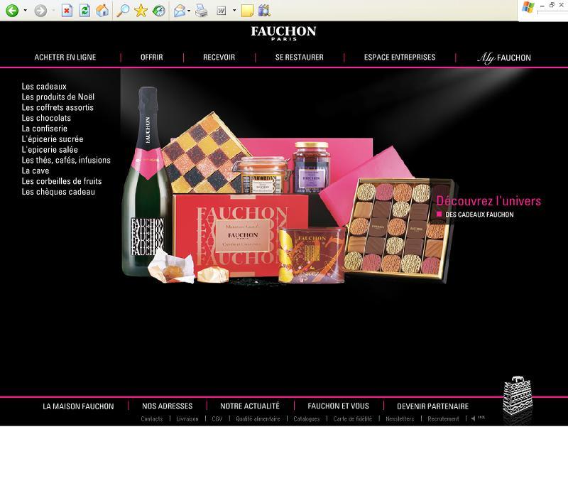 Fauchon lance sa première boutique en ligne