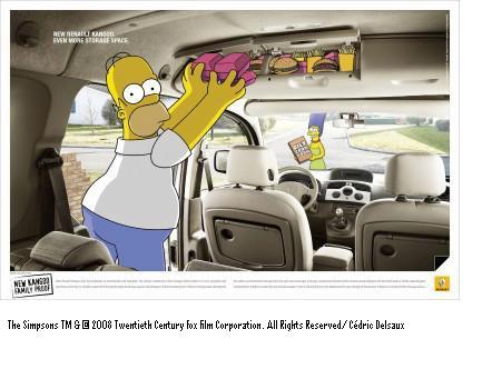 La famille Simpson roule pour Kangoo