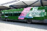 Les bus RATP se mettent au vert pour France Galop