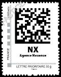 Timbre poste à code barre 2D lancé par Nexence