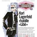 Karl Lagerfeld, rédacteur en chef d'un jour pour Libération