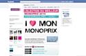 'I love mon Monoprix' sur Facebook