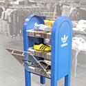 La Newspaper Vending Box chez Citadium à Paris.