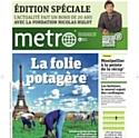 'Métro' sort son journal daté de 2030