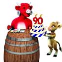 La vache : 90 ans et toujours le sens de l'humour