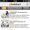 Le site emarketing.fr sort son appli iPhone
