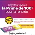 Carrefour offre 100euros à ses clients