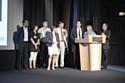 Sur la scène de l'auditorium de TF1 les pilotes du Prix du meilleur Buzz - @élie