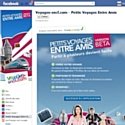 Voyages-sncf.com invite au voyage à plusieurs sur Facebook