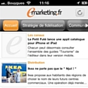 Emarketing.fr sort son application Android
