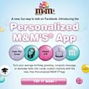 M&M's U.S.A. parle en bonbons sur Facebook