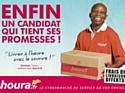 Houra.fr s'engage à livrer à l'heure et avec le sourire