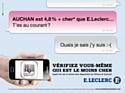Nouvelle publicité comparative pour E.Leclerc