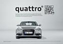 Le mailing imaginé par Okó cible les principaux marchés européens d'Audi.