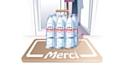 La livraison d'eau minérale à domicile se généralise chez Evian.