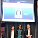Audrey Pulvar, dg des Inrockuptibles, reçoit le Trophée de la meilleure innovation marketing/diffusion/promotion