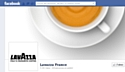La nouvelle page Facebook Lavazza France