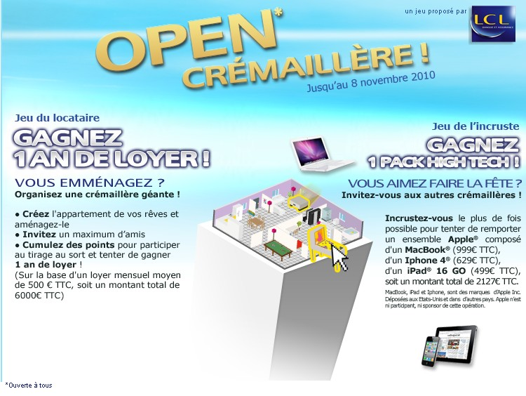 Lcl invite les tudiants pendre la cr maill re for Pendre la cremaillere cadeau