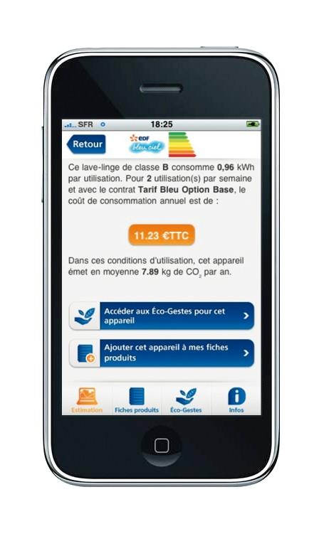 edf offre une appli iphone pour les conomies d 39 nergie. Black Bedroom Furniture Sets. Home Design Ideas