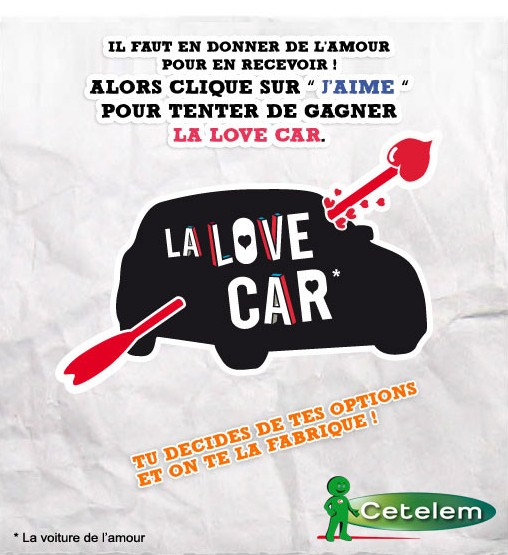 cetelem lance l 39 op ration la love car sur facebook. Black Bedroom Furniture Sets. Home Design Ideas