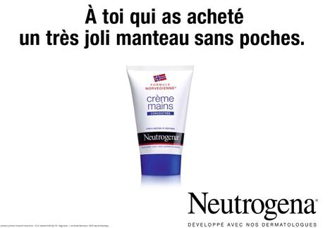 neutrogena interpelle le quidam