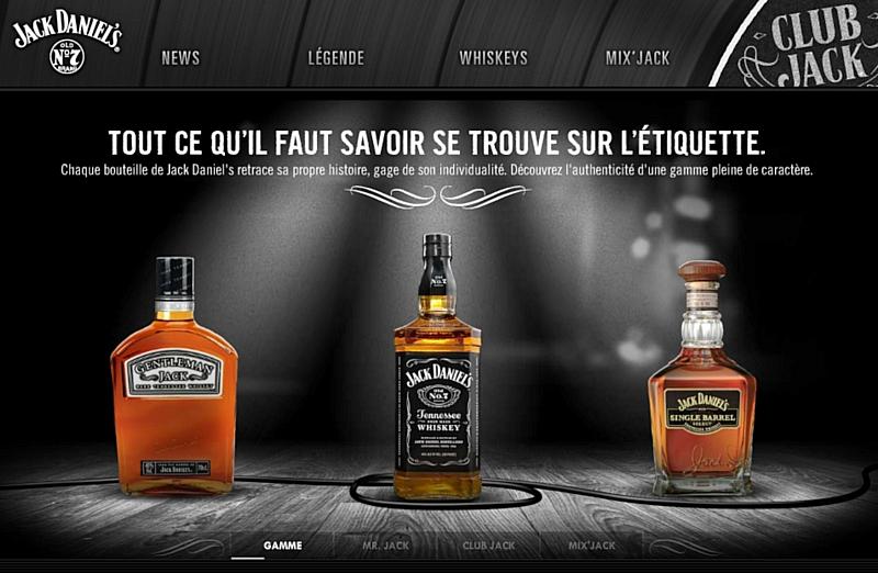 Jack Daniel\'s investit la Toile en français