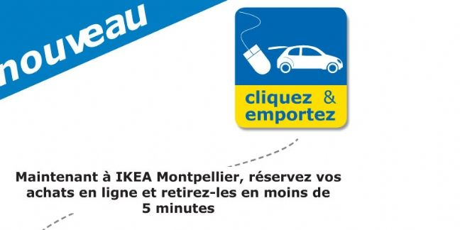 ikea montpellier inaugure le service drive click and collect. Black Bedroom Furniture Sets. Home Design Ideas