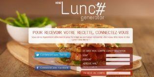 Heinz Lunch Generator ou comment choisir son déjeuner en trois hashtags