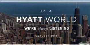 Les hôtels Hyatt mettent en avant leur service client 2.0