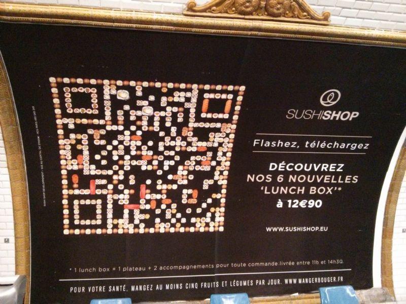 4add12aa62b Campagne d affichage QR Code de Sushi Shop
