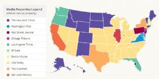 Bit.ly : une carte des actualités partagées en temps réel aux États-Unis
