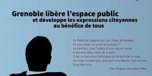 Illustration et citation de Don Draper (Mad Men) pour illustrer la communication de Grenoble