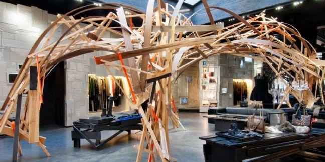 La structure d'Arne Quinze - L'Eclaireur (Paris)