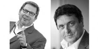 Patrick Cauvin, président de Human Live et Laurent Habib, président de l'agence Babel.