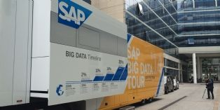 Quand SAP démontre dans un big camion l'usage de la data massive