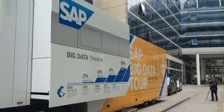Quand SAP démontre dans un big camion l'usage de la data massive