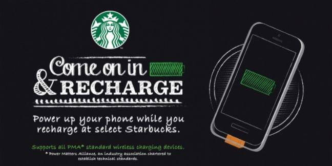 A Londres, les amateurs de café peuvent recharger gratuitement leur mobile chez Starbucks