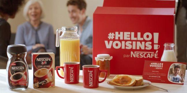 Nescafé lance l'opération #HelloVoisins