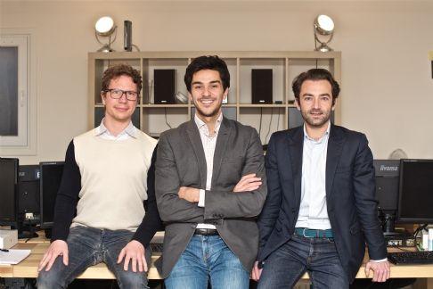 Les fondateurs d'Artefact : Philippe Rolet(à gauche),Vincent Luciani(milieu) et Guillaume de Roquemaurel(à droite).